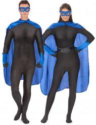 Superhjältekit blått för vuxen