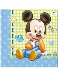 20 servetter baby Mickey ™ 33 x 33 cm