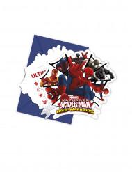 6 Inbjudningskort och kuvert Spiderman™