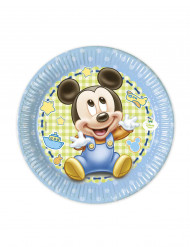 8 Små tallrikar baby Mickey ™ 20 cm