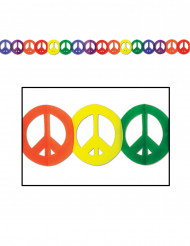 Pappersgirlang med fredssymboler