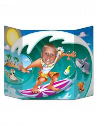 Fotoram med surfare 96x64 cm