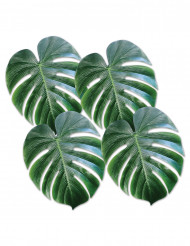 4 plastblad som liknar palm