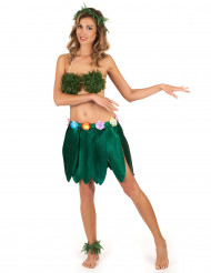 Fotlänk gjord av plastblad till den tropiska festen