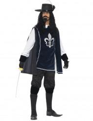 Mörkblå musketör - utklädnad vuxen