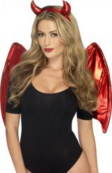 Demonkit rött kvinna Halloween