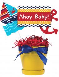 Min lilla sjöman - 3 pinnar till festdekore