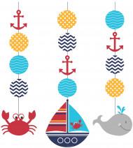 Min lilla sjöman - 3 hängande dekorationer