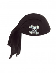 Hatt med bandana svart i polyester Pirat vuxen