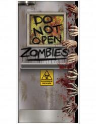 Laboratoriedörr med zombies - Dörrdekoration till Halloween