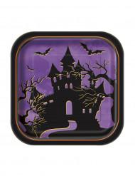 10 små tallrikar med spökhustryck - Halloweenpynt