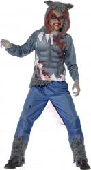 Blodig varulvsdräkt för barn till Halloween