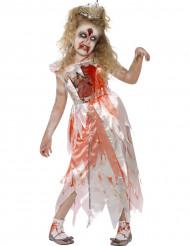 Zombieprinsessa till Halloween för barn