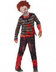 Maskeraddräkt zombieclown Halloween barn