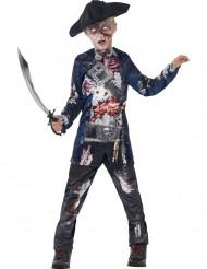 Pirat zombie-dräkt barn