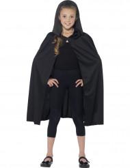 Kape med huva svart barn Halloween