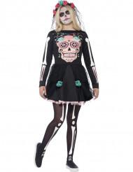 Färgglad Skelett Halloween Maskeraddräkt Tonåring