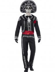 Maskeraddräkt mexikanskt skelett vuxen Halloween