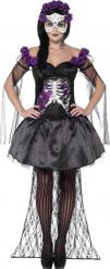 Lila Dia de los Muertos Skelett - Maskeraddräkt för vuxna