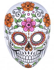 MaskSkelettfärgad vuxen Halloween