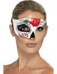 Färggrann halvmask för vuxna till Halloween