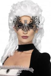 Mask spindelnät med strass vuxen Halloween