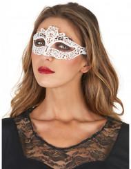 Mask i vit spets för vuxna