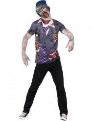 Zombieskolpojke - T-shirt för vuxna till Halloween