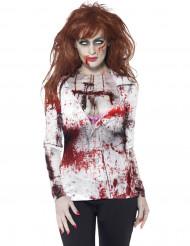 Sexig zombie t-skjorta vuxen Halloween