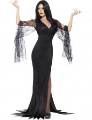 Häxa med svart spets - Halloweenkläder för vuxna