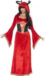 Maskeraddräkt djävulsk drottning vuxen Halloween