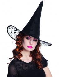 Häxans hatt med spets till Halloween