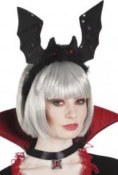 Hårband fladdermus svart vuxen Halloween