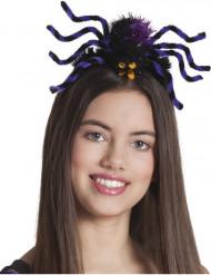 Spindelhårband i lila till Halloween