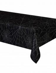 Svart bordsduk med spindelväv