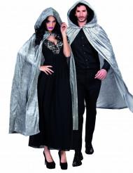 Kape grå velourseffekt 170 cm vuxen Halloween