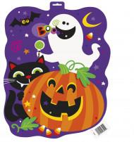 Trevlig Halloweenaffisch med pumpa och spöke