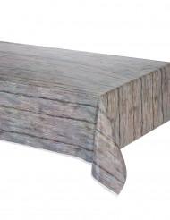 Rustisk bordsduk med tryck av trä