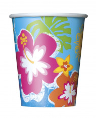 8 Hawaii Hula pappersmuggar 250 ml