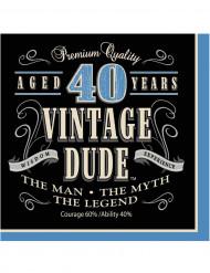 16 pappersservetter Vintage 40 år 33 x 33 cm