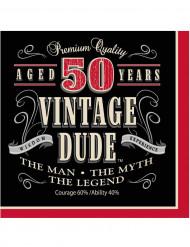 16 pappersservetter Vintage 50 år