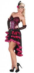 Rosa burlesque - utklädnad vuxen