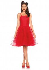 Maskeraddräkt röd klänning 50-tal kvinna