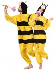 Maskeraddräkt bi med vingar vuxen