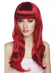 Hot Redhead - Lång röd peruk för vuxna