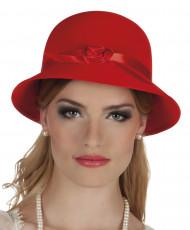 Elegant 20-talshatt i rött för vuxna