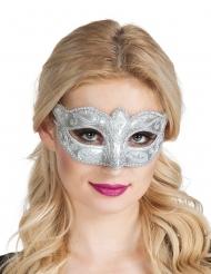 Venetiansk ögonmask i silver för vuxna