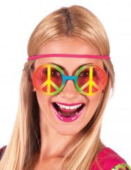 Hippiglasögon i regnbågensfärger - Maskeradtillbehör för vuxna