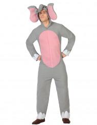 Elefant med rosa mage - Maskeradkläder för vuxna