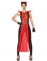 Kostym kvinnlig krigare från det historiska Japan
